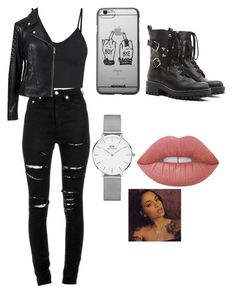 A fashion look from August 2017 featuring v neck tank, slim fit jackets and destructed jeans. Browse and shop related looks. Bad Girl Outfits, Cute Teen Outfits, Hot Outfits, Outfits For Teens, Baddie Outfits Casual, Grunge Outfits, Girls Fashion Clothes, Teen Fashion Outfits, Plum Nails