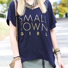 Krystal from A Pinch Of Lovely in ShopRiffraff.com's Small Town Girl Tee!