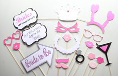 Bachelorette Party Photo Booth by ThePartyGirlStudio on Etsy. Bachelorette Party Games.