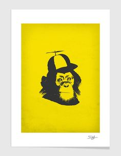 """""""Wild Monkey"""", Numbered Edition Fine Art Print by Donald Jorgensen - From $39.00 - Curioos"""