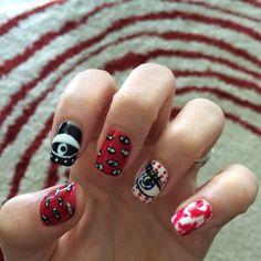 Kenzo inspired nail art