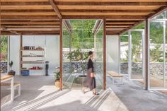 World Architecture Community News - Chinese old house converted into a fully-transparent children's education centre by AaL+Atelier UPA Mediterranean Architecture, Tropical Architecture, Interior Architecture, China Architecture, Interior Design Institute, Decor Interior Design, Interior Design Living Room, Room Interior, Exterior Design