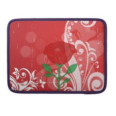 Review Single Red Rose Pictures Design Sleeve For MacBook Pro you will get best price offer lowest prices or diccount coupone