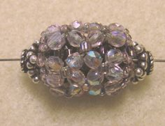 Netted Beaded Bead from Janie's Beads
