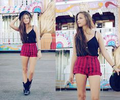 red striped high waisted shorts- buffalo exchange, http://outofabook.blogspot.com/