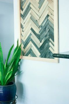 DIY Wall Art   Cheap And Easy Wall Art Using Wood Shims