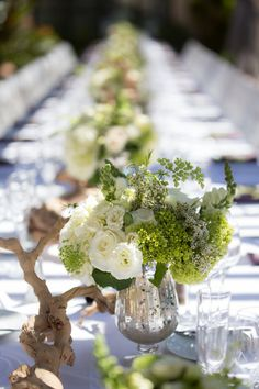 Adding an organic element such as grape wood branches can turn a classic design into something unique and fresh in an instant! Photography: Zoom Theory Venue: Terranea Resort  Check out our other wedding galleries for more inspiration! xo #lillabello