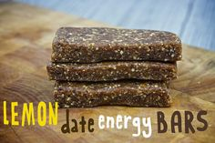 Lemon Date Energy Bars from @Shutterbean