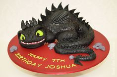 Toothless Cake from the movie How to Train Your Dragon.