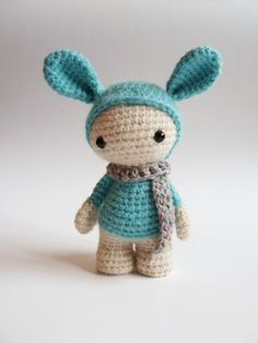Miss Marshmallow the cute crochet amigurumi doll. by CreepyandCute, €24.50