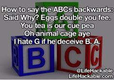 ABCs backwards!