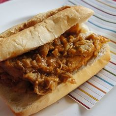 """Bourbon-Mango Pulled Pork I """"Delicious! I made this exactly as the recipe suggested and the taste and texture was perfect. Even better the next day."""""""