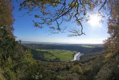 The Lower Wye Valley creates a stunning view, perfect for lovers to gaze at.