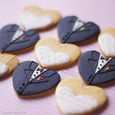 Another way to use our standard heart cookie cutter. Wedding cookies.