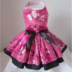 Pink Butterfly Couture Dog Dress – Bark Label