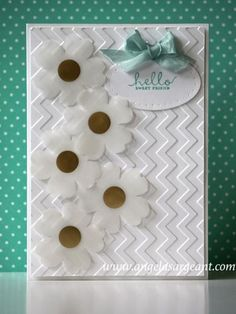 Chevron embossed card by Pretzelgirl8 - Cards and Paper Crafts at Splitcoaststampers