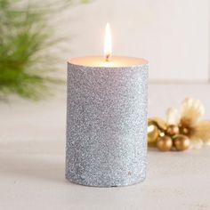 Illuminate your home this season with our Christmas Glitter Pillars. They are perfect as center pieces or complimenting your seasonal decor. Christmas Candle Holders, Christmas Candles, Christmas Decorations, Gold Candles, Pillar Candles, Secret Santa Presents, Knife Block Set, Christmas Glitter, Holiday Looks