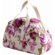 Bolsa de viagem feminina em tecido teflonado. Perfeita para aquelas viagens de final de semana ou feriados estendidos, conforto com estilo para sua diversão!!