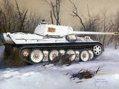 tank artwork | PZKW5 Panther tank, Art, Battle, Drawing, German, Germany, Painting ...