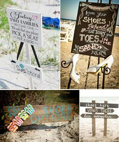 beach-wedding-signs-for-shoes-options-and-ideas.jpg 600×715 pixels