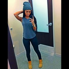 beanie and timbs