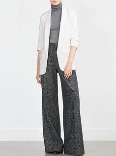 Menswear Style Jacket - Long Lapel Design / Shirred Cuff Details