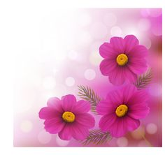 Realistic flower design background art vector 01