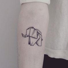 Instagram media by shpadyreva - #tattoo #dotwork #elephant