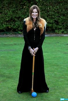 Carole Radziwill rocks an amazing fur shrug for croquet, because, why not?