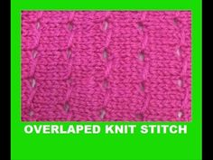 Overlaped knit stitch