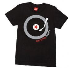 'SPINNING BEATS' Kids T-Shirt Short Sleeve by Little Trendstar