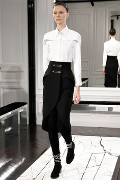 skirt assembling for men's androgynous  look of the future #alexanderwang #lagerfeld