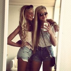 Everytime you and your best frann get all prettied up and fancy lookin, your like ooo ooo lets take a picture and post it, soo then everybody can see how gorgeous and fabulous we look:)