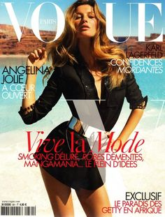 Cover with Gisele Bundchen October 2007 of FR based magazine Vogue Paris from Condé Nast Publications including details. Vogue Covers, Vogue Magazine Covers, Fashion Magazine Cover, Fashion Cover, Gisele Bundchen, Vogue Paris, Gq, Top Models, Karl Lagerfeld