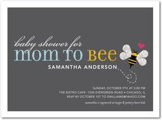 Bee Baby Shower Invitations Awesome Baby Shower Invitations From Tiny Prints Bee Invitations, Unique Invitations, Baby Shower Invitations, Invites, Invitation Ideas, Baby Shower Parties, Baby Shower Themes, Shower Ideas, Baby Showers