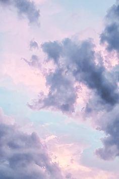 Dreamy Lavender Purple Clouds Poster