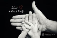 Love makes a family, so sweet and simple, but also so intense