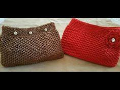 POCHETTE UNCINETTO/crochet clutch/embrague de ganchillo - YouTube