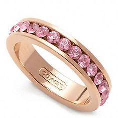 PAVE BAND RING I'm a big fan of rose gold lately