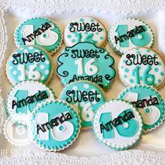 sweet 16 sugar cookies - Google Search