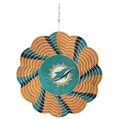 "Miami Dolphins 10"" Geo Wind Spinner"