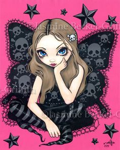 Gothic Fairy Picture: Skulls and Stars by Jasmine Becket-Griffith