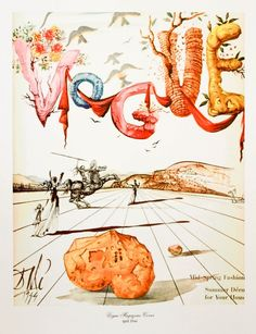 Vogue April 1944 Cover by Salvador Dali