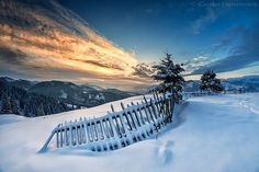 5 Winter sunrise in (Bucovina, Romania) by Dumitrescu Catalin / Beauty Around The World, Around The Worlds, Winter Pictures, Winter Landscape, Winter Time, Beautiful Landscapes, Winter Wonderland, Sunrise, Europe