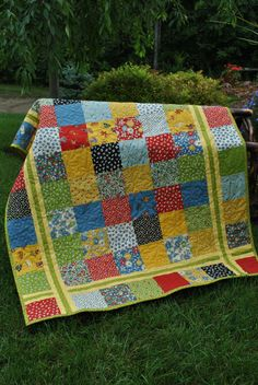 PDF Quilt Pattern.....Charm square, Layer Cake or Fat Quarter friendly, ..Table runner, baby and lap size, Simple Stitches via Etsy