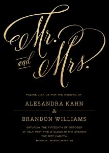 Personalized Stationery - Mr and Mrs Invitation