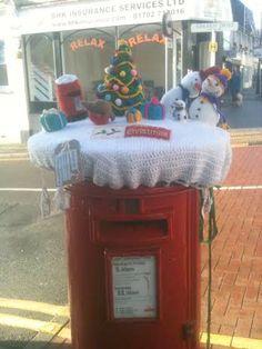 Southend Gets Yarn Bombed Handmade Crafts, Diy Crafts, Christmas Yarn, Leigh On Sea, Rainbow Crafts, Yarn Bombing, Crochet Things, All Craft, Craft Items