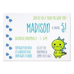 Green Kawaii Dinosaur Birthday Party Invitation Diy Party, Party Gifts, Card Party, Party Ideas, Gift Ideas, Dinosaur Birthday Invitations, Dinosaur Birthday Party, Kawaii, Envelope Liners