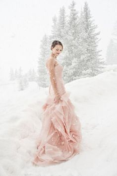 Winter wedding magic: http://www.stylemepretty.com/canada-weddings/alberta/lake-louise/2014/03/25/chateau-lake-louise-winter-wedding/ | Photography: Orange Girl - http://www.orangegirl.com/: