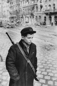 Boy Freedom Fighter Carrying Rifle During Hungarian Revolution Against Soviet Backed Government Photographic Print by Michael Rougier Budapest, Old Photos, Vintage Photos, Freedom Fighters, Historical Pictures, Life Magazine, Cold War, Vintage Photography, World War Ii